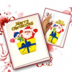 [TD210] [아트공구] [만들기패키지] 해피크리스마스 카드 만들기-10인세트/크리스마스카드만들기/DIY만들기/만들기놀이/