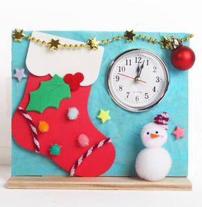 [JM264] [아트공구] 크리스마스 양말 시계 /크리스마스만들기/시계만들기/크리스마스반제품/