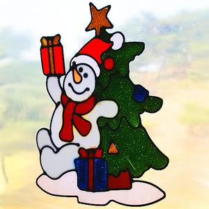 [TD3758] [아트공구] [완제품] 유니테크 글라스 크리스마스 눈사람트리 /글라스데코/크리스마스데코/크리스마스꾸미기/