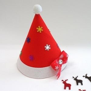 [MS043] [아트공구] 큐티산타모자/크리스마스/성탄절/산타모자